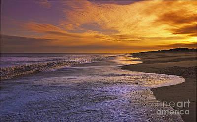 Coastguard Cottages Photograph - Sunset On Dunwich Beach by Darren Burroughs