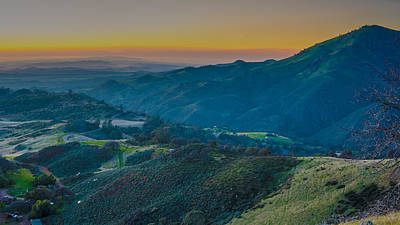 Photograph - Sunset On Figueroa Mountain by Paul Johnson