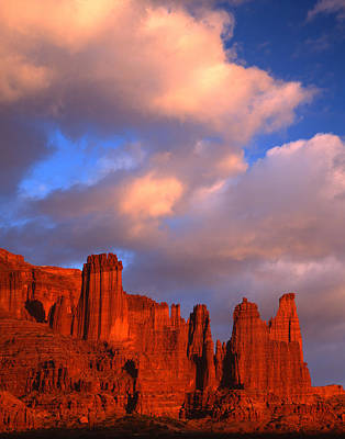 Photograph - Sunset On Fisher Towers by Ray Mathis