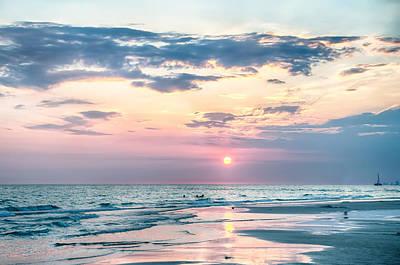 Photograph - Sunset On Florida Beach by Alex Grichenko