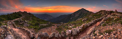 Sunset On Franconia Ridge Art Print