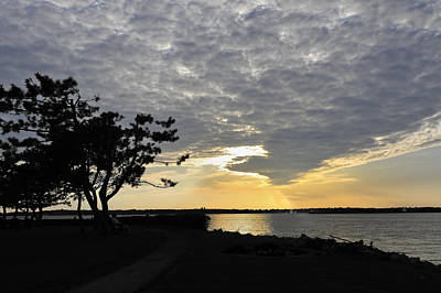 Photograph - Sunset On Goat Island Newport Ri by Marianne Campolongo