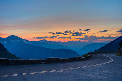 Photograph - Sunset On Going-to-the-sun Road by Adam Mateo Fierro