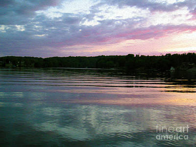 Photograph - Sunset On Gull Lake by Nina Silver