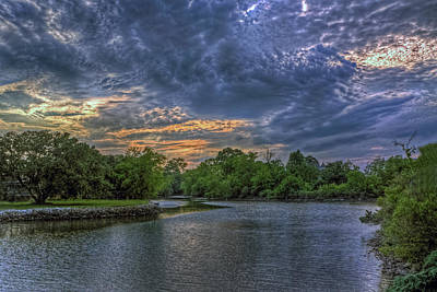 Photograph - Sunset On Hampton Creek by Jerry Gammon