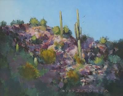 Painting - Sunset On Hawk Ridge by Bill Tomsa