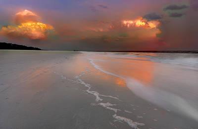Sunset On Hilton Head Island Art Print by Peter Lakomy