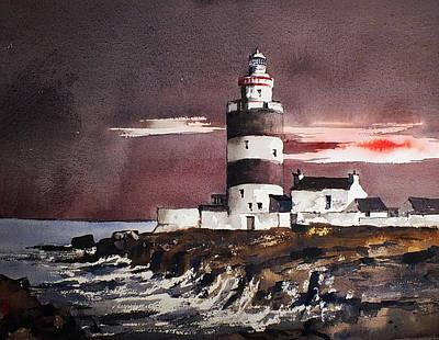 Sunset On Hook Head Wexford Art Print