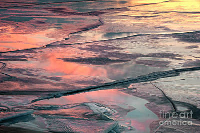 Photograph - Sunset On Ice by Charline Xia