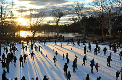 Photograph - Sunset On Ice  by Diane Lent