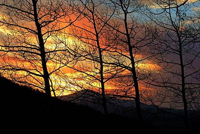 Photograph - Sunset On Jud Wiebe Trail II by Daniel Woodrum