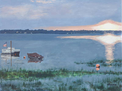 Painting - Sunset On Lake Champlain by Cynthia Morgan