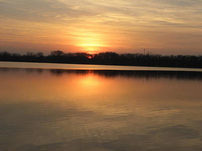 Photograph - Sunset On Lake by Cim Paddock