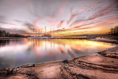 Photograph - Sunset On Lake Hartwell by Brent Craft