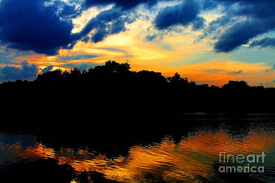 Photograph - Sunset On Lake Maitland By Diana Sainz by Diana Raquel Sainz