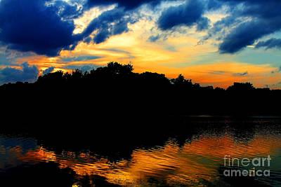 Photograph - Sunset On Lake Maitland By Diana Sainz by Diana Raquel Sainz