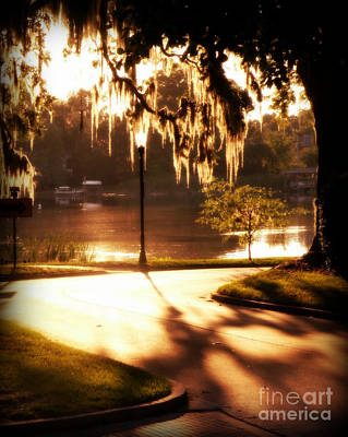 Art Print featuring the digital art Sunset On Lake Mizell by Valerie Reeves