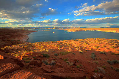 Photograph - Sunset On Lake Powell by Alan Vance Ley
