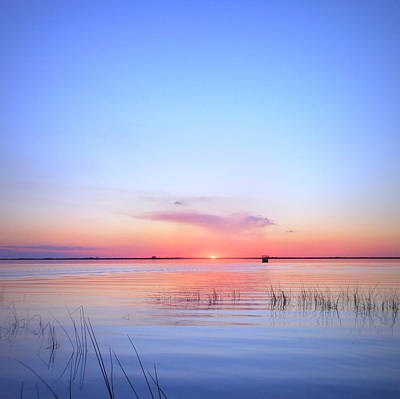 Sunset On Lake Washington Art Print