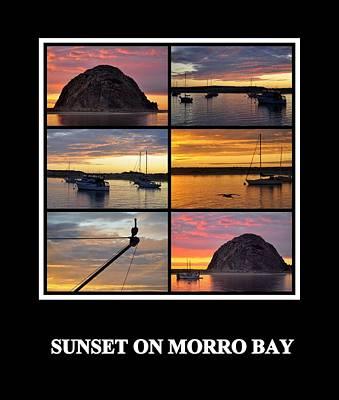 Photograph - Sunset On Morro Bay by AJ  Schibig