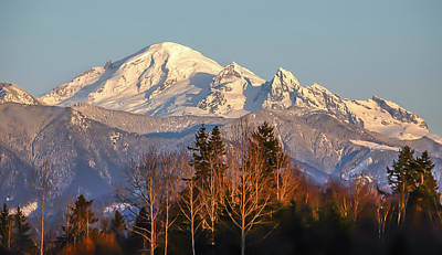 Sunset On Mount Baker Art Print