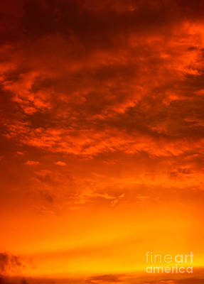 Photograph - Orange Cloud Sunset by Glenn Gordon