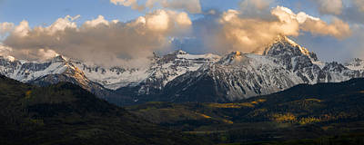 Rocky Mountains Photograph - Sunset On Mt. Sneffels by Aaron Spong