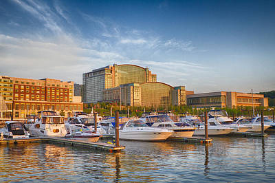 Photograph - Sunset On National Harbor by Chris Reed
