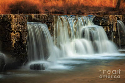 Photograph - Sunset On Natural Dam by Larry McMahon