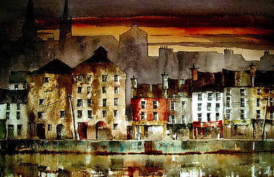 Mixed Media - Sunset On New Ross Wexford by Val Byrne