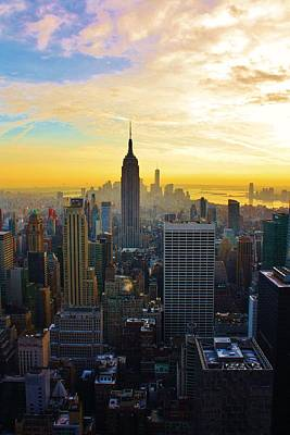 Photograph - Sunset On New York by Bruce Bley
