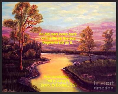 Sunset On One's Life Print by Kimberlee Baxter