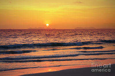 Lanta Photograph - Sunset On Phiphi Island by Atiketta Sangasaeng