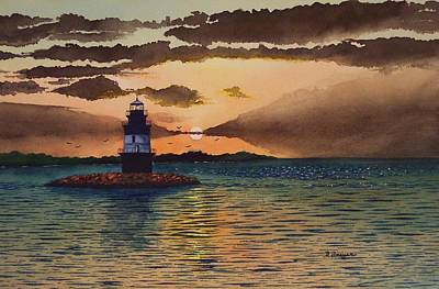 Sunset On Plum Gut Art Print