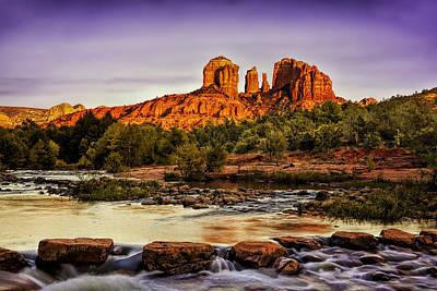 Sunset On Red Rock Crossing Original