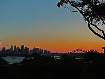 Sunset On Sydney Harbour  Art Print