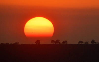 Photograph - Sunset On Table Mountain by AJ  Schibig