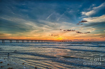 Coastal Photograph - Sunrise On Texas Beach by Tod and Cynthia Grubbs