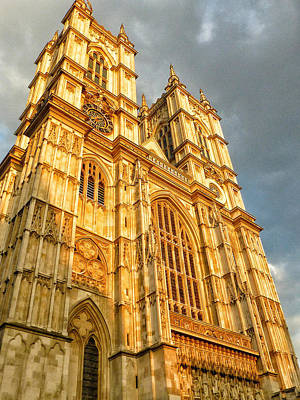 Westminster Abbey Photograph - Sunset On The Abbey  by Connie Handscomb