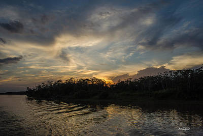 Photograph - Sunset On The Amazon 1 by Allen Sheffield