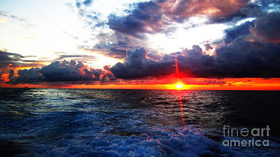 Photograph - Sunset On The Atlantic by Alison Tomich