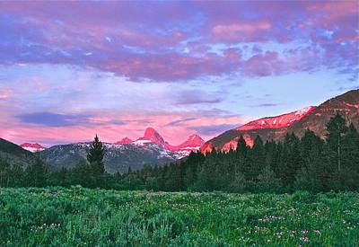 Widflower Photograph - Sunset On The Backside Of The Tetons by Larry Bodinson