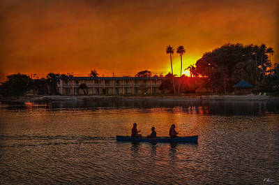 Photograph - Sunset On The Bayou by Hanny Heim