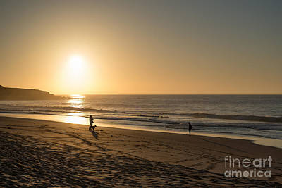 Sunset On The Beach Photo Scene Art Print