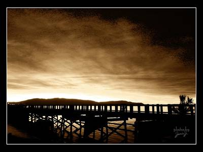 Photograph - Sunset On The Boardwalk by Jamie Johnson