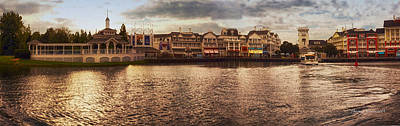 Sunset On The Boardwalk Walt Disney World Art Print by Thomas Woolworth