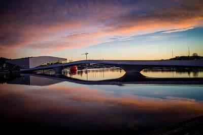 Sunset On The Bridge Art Print by Mirra Photography