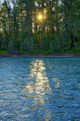 Photograph - Sunset On The Bulkley by Mary Lee Dereske