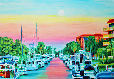 Painting - Sunset On The Canal by Deborah Boyd