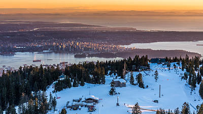 Photograph - Sunset On The City Of Vancouver by Pierre Leclerc Photography